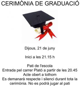 Festa de graduació 2011-2012