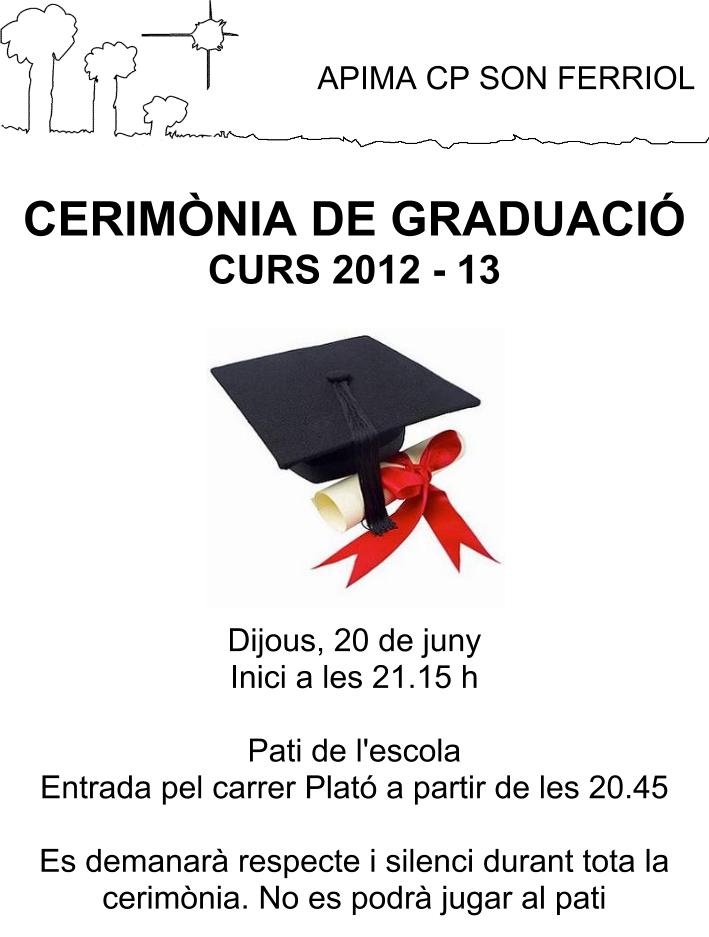 Cartell Cerimònia Graduació Curs 2012-13