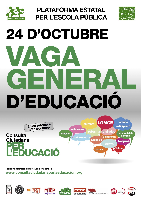 Huelga General Educacion 24 octubre + Consulta Final Catalan